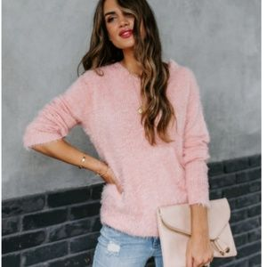 JULIA Fuzzy Pullover Sweater